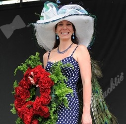 Allison Healy, winner of the hat contest