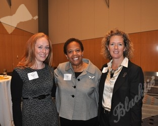 Allison Baker (l) with Vickie Wilson and Shelley Thompson - all from the Denver Museum of Nature & Science