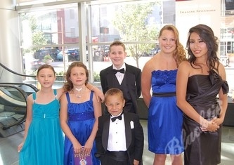 The Children's Hospital Ambassadors: Ayla, left, Hannah, Kohl, Christian, Rikki and Amber