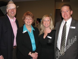 Tom Feldkamp, left, Joyce Schlose, Wendy Rice and Mike Pritchard take a moment for a photo before the event.
