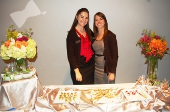 Providing scrumptious snacks: Katie Mickel, left, and Kathryn Matta of A Spice of Life