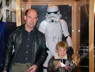 Lance and Ben Weaver appear to be captured by a storm trooper.
