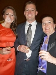 Kara Davis (left), with Brock Vendsel and Cheryl Matlosz