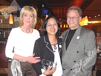 Sponsor Cyd Rodriguez, left, with Honoree Esther Carpenter,  and Dr. Michael  Schaffer
