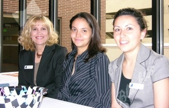 From left to right, Mary Hendrix, Melissa Hamilton and Natalie Ritter