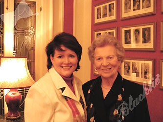 Mary Kay Low and Gov. Bill Owens' mother, June Owens, were gracious hostesses