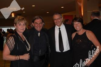 Wendy and Mike Handler, left, with Jim and Debbie Shmerling