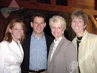 Hard-working Leslie McKay of the Children's Hospital Foundation, left, with her boss, Steve Winesett, CEO and president of the foundation, with Sue Ellen Goss and Tonya Everist