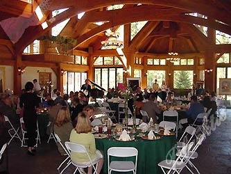 The 6,700-square-foot Pavilion made of Amish Country White Oak provided a gorgeous setting for brunch