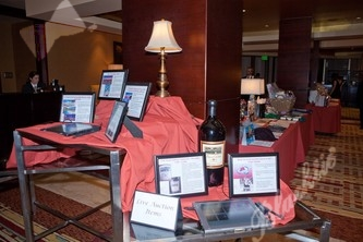 Guests enjoyed browsing the silent auction items, and previewing the live auction offerings during the cocktail hour