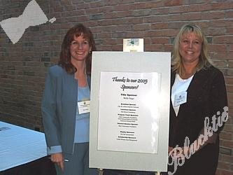 Tina Drum, Organizational Manager and Michele Littel, Accountant