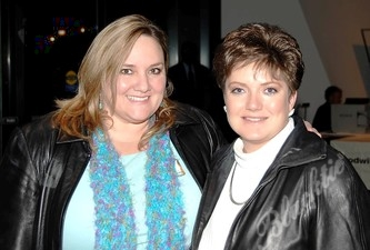 Nancy L. O'Dorisio (left) and Becky Villano. Nancy and Becky are from Forte' Advertising