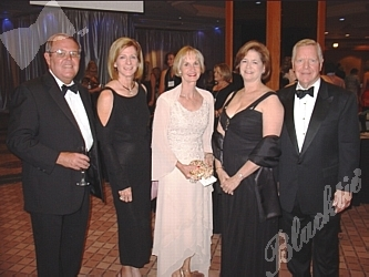 Chuck and Diane Hooper, left, Sandy Morrison, the VP for planned and leadership gifts, and Jane and Jim Wiltshire, right