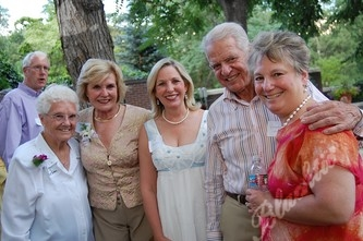 The Governor's mother, Ethel Ritter, left, board chair Jean Galloway, former First Lady Frances Owens, Richard Vandenbergh and Denver Health's Paula Herzmark