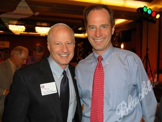 Congressman Mike Coffman, left, with Scott Celley of sponsor Triwest Healthcare Alliance