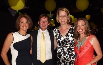 Diane Reed, left, Patrick Sablich, Lisa Merlino and Catherine--part of the leadership team for the event