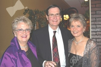 Jill Behr, left, John and Joan French