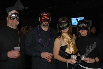 Rob, Marty, Meghan, & Cathy show off their masks