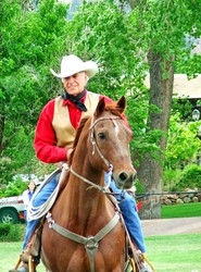 Rancher and legendary Marlboro Man Bob Norris makes and appearance riding Bob the Horse