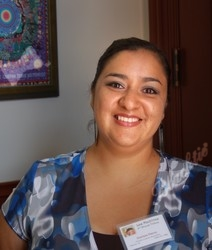 Artist Clarissa Fierro spent many hours designing and producing the unique Las Madrinas award pieces.
