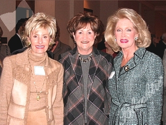 Committee members Arlene Hirschfeld, Debra Herz with Diane Huttner