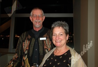 John Serfing, board member and Ellen O'Keefe