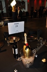Champagne from Moet & Chandon decorates the  tables