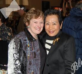 Gayle Ray, left, with Linda Yip