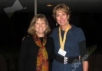 Shining Stars board member Marty Roberts with Executive Director Kathy Gingery