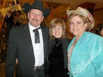 Joe and Kathy Gallion, of Calcon Constructors, with Brenda Lambert