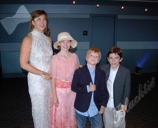 Sue Ann Degarbo (left) with Samantha, Lachlan and Daniel