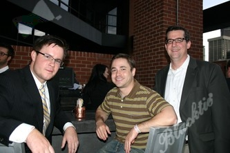 Chillin' at the bar: Jason Henritze-Hoye from SDSE-LLC, Justin Krieger and Aaron Foy from ATL