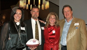 Fran and Dave Studdard with Nancy and Mark Cooper. Dave and Mark were '79 Broncos