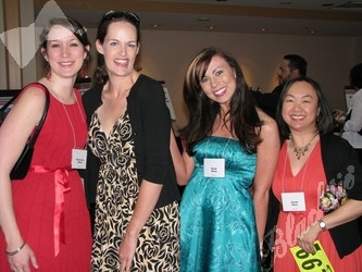 Genevieve Miller, left, is joined by Allison Watrous, Heidi Bosk, and Sarah Hom