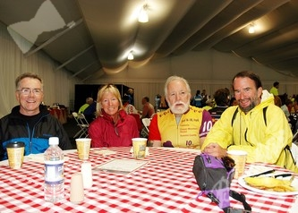 Mike Roarty (left), Susan Butts, John Brewer and John Voehl.  Susan has ridden in this event for 6 straight years.