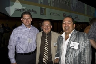 Chris Frank (l) with Frank Milinazzoa and Rusty Gonzales