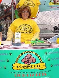 Canine Cab had a booth at the fair. The company was vote