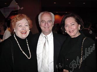 Jo Farrell, a SAVVY judge in all respects, left, with Marvin and Bebe Levy.