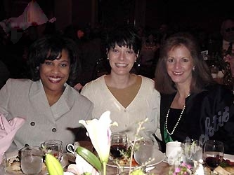 From left, Prescilla Thorne, public relations manager for Foley's, Rocky Mountain News society writer Dahlia Weinstein, and Jan Blankennagel of Foley's.