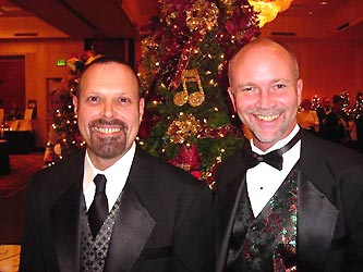 Larry Choquette, left, and Festival of Trees Design Chair Patrick Williams of Aesthetics Unlimited