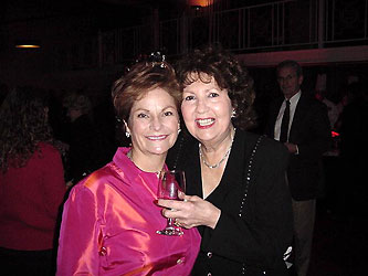 Red Wine and Fish co-chairs Diane Murdy and Irene Zarlengo raise a glass to a successful fund-raiser. More than 200 tickets were sold to the event, proceeds of which benefit Brandon House for battered women. Mrs. Murdy is president of the VOA Guild.